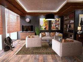 עיצוב פנים של חדר מגורים