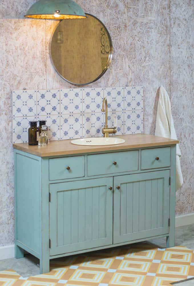 עיצוב חדר אמבטיה כפרי